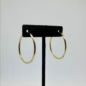 Real 14k Gold Hoops 3.5cm